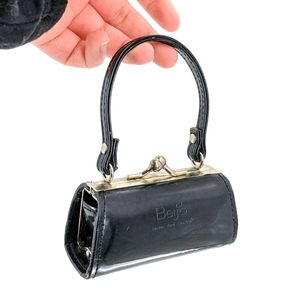 Beijo Micro Mini Patent Leather Kiss Lock Coin Bag